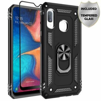 Case Galaxy A10E c/ Vidrio Templado c/ Parador Anillo Metal