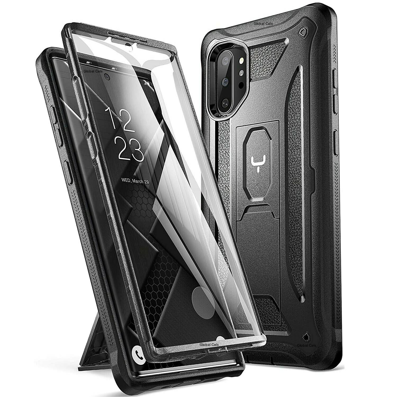 Case Funda Galaxy Note 10 Plus c/ Mica Integrada c/ Parador Vert-Horz - Negro