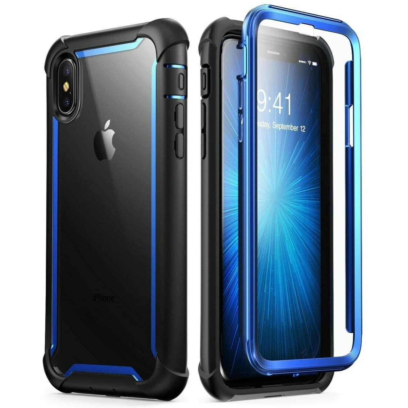 Carcasa para iPhone Xs, Azul