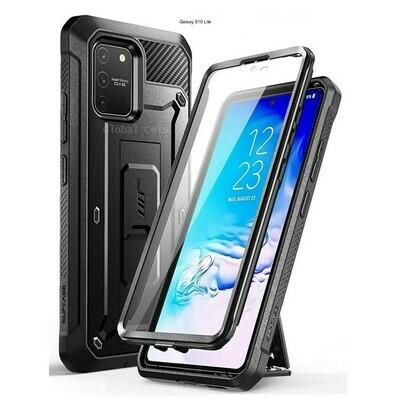 Case Protector Galaxy S10 Lite Extremo c/ Gancho Correa c/ Mica Integrada