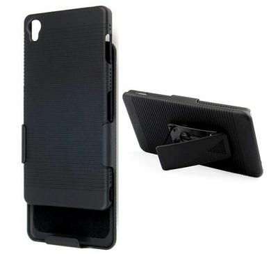Case protector Holster Sony XPERIA Z3 con gancho para la correa