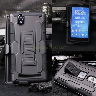 Case Sony Xperia T2 Ultra holster Gorila con gancho giratorio y parante inclinable