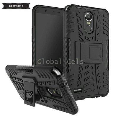 Case LG Stylus 3 Stylo 3 con Soporte Antigolpes Negro