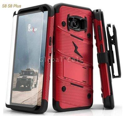 Case Zizo Galaxy S8 Plus + Vidrio Templado + Parante + Gancho Rojo