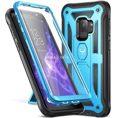 Case Galaxy S9 Normal Azul Youmkr c/ Parante Vertical y Horizontal