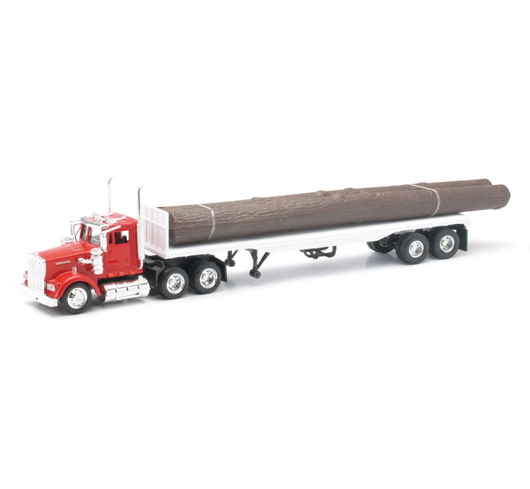 Kenworth W900 con troncos