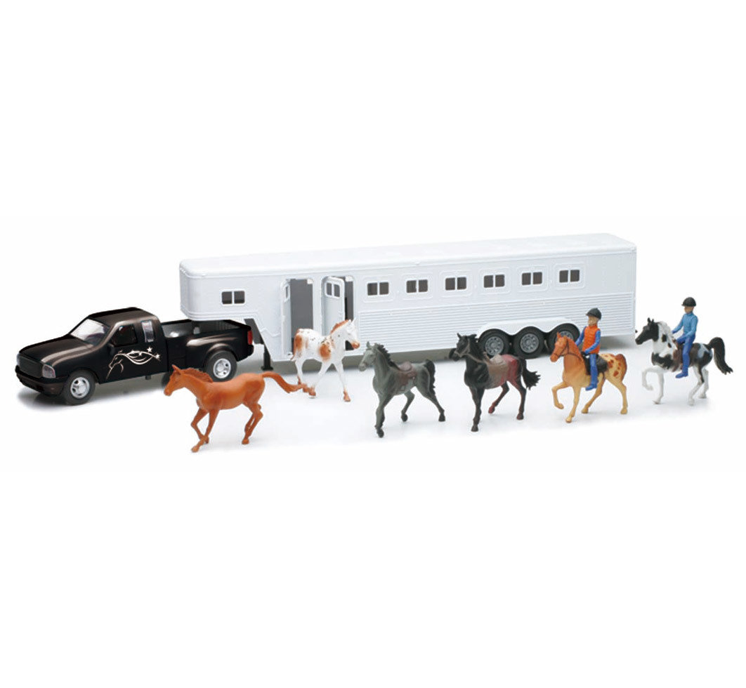 Set Camioneta con remolque de caballos