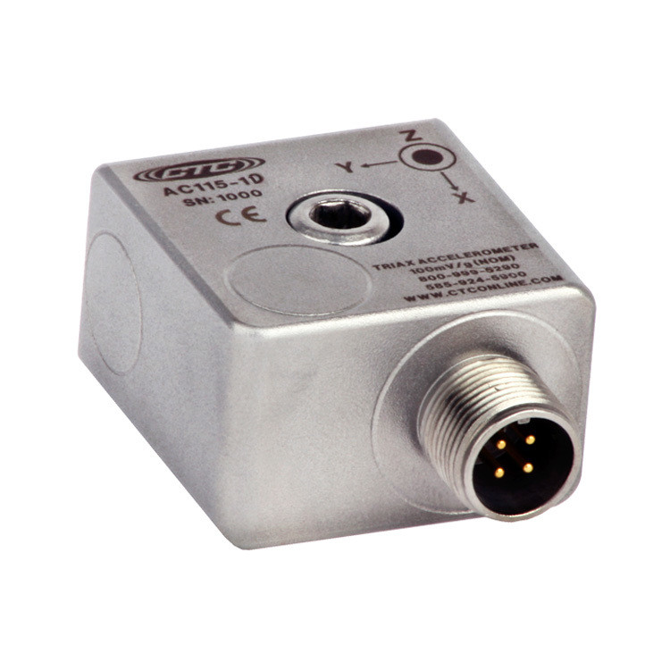 AC115 Series Low Cost Accelerometer, Triaxial, 100 mV/g