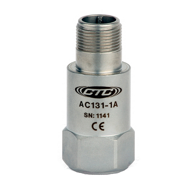AC131 Series High g Accelerometer, Top Exit Connector/Cable, 10 mV/g