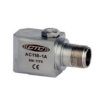 AC118 Series Multi-Purpose Accelerometer, Side Exit Connector/Cable, 50 mV/g