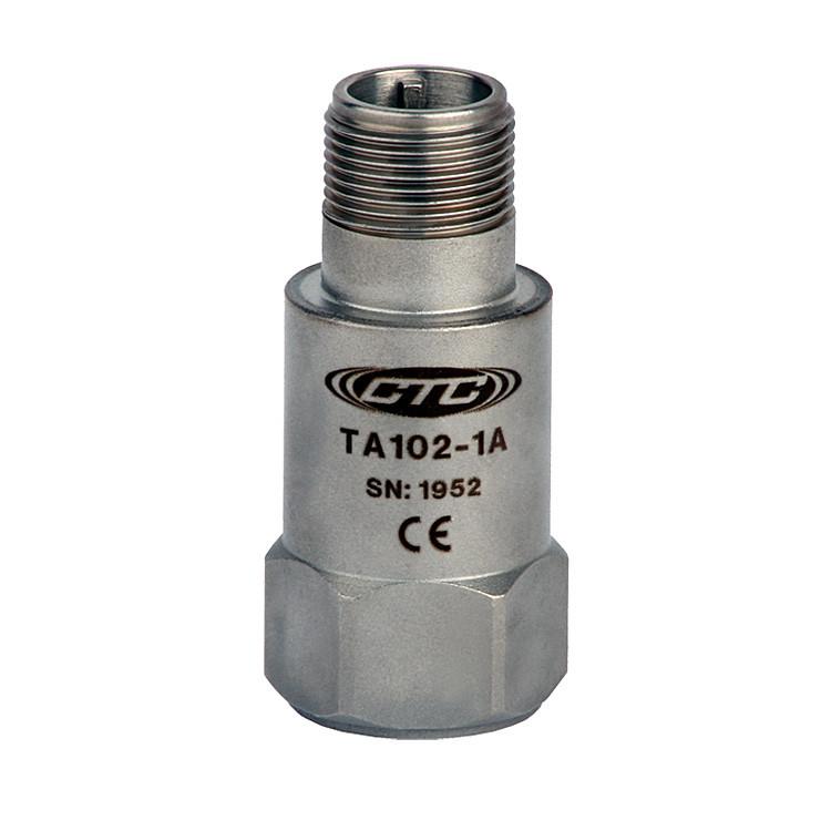 TA102 Series Dual Temperature/Acceleration Output, Top Exit Connector/Cable, 100 mV/g, 10 mV/°C