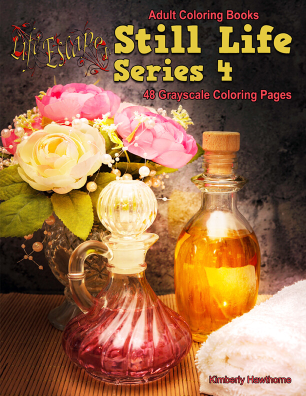 Still Life Series 4 Coloring Book for Adults PDF Digital Download