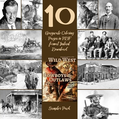 Wild West Cowboys & Outlaws sampler pack PDF digital download