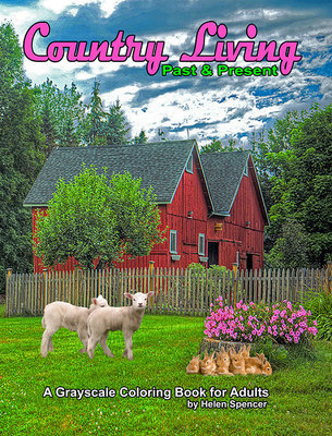 Country Living Coloring Book for Adults Digital Download