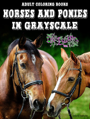 Horses & Ponies Coloring Book for Adults Digital Download