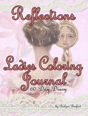 Vintage Ladies Coloring Journal Digital Download