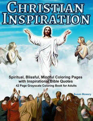 Christian Inspiration Coloring Book for Adults Digital Download