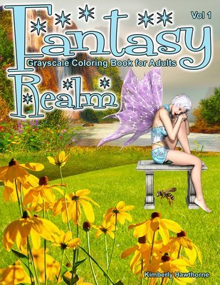 Fantasy Realm V1 Coloring Book for Adults Digital Download