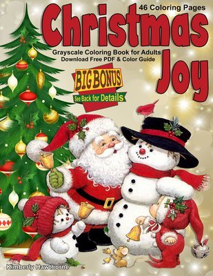 Christmas Joy Coloring Book for Adults and Kids Digital Download
