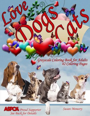 Love Dogs & Cats Coloring Book for Adults Digital Download
