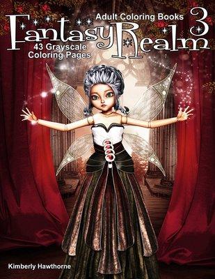 Fantasy Realm V3 Coloring Books for Adults Digital Download