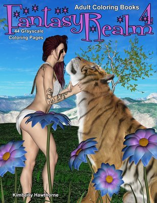 Fantasy Realm 4 Coloring Book for Adults Digital Download