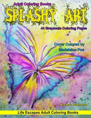 Splashy Art Adult Coloring Book Digital Download