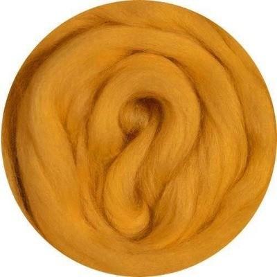 Fine Merino Wool Roving -- Squash