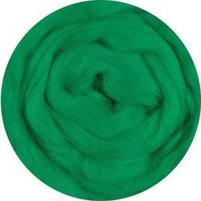 Sale - NEW!  -- Fine Merino Wool Roving -- Green