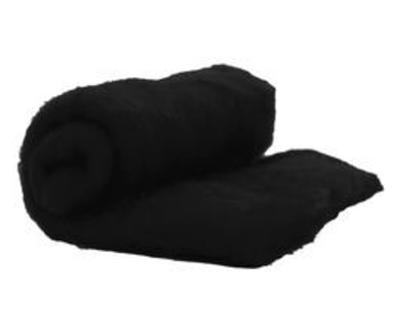 Perendale Wool  -- Carded Batt --  Black