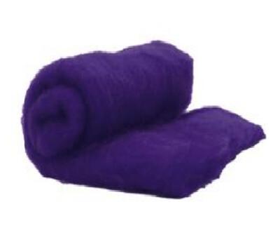 Perendale Wool  -- Carded Batt --  Deep Purple