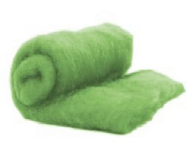 Perendale Wool  -- Carded Batt --  Light Green