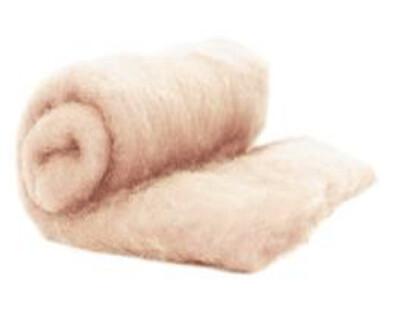 Perendale Wool  -- Carded Batt --  Light Skin