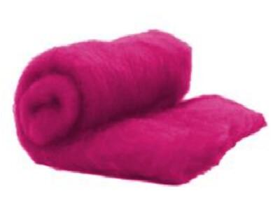 Perendale Wool  -- Carded Batt --  Magenta