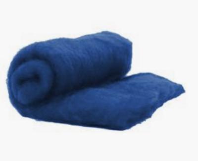 Perendale Wool  -- Carded Batt --  Ocean Blue