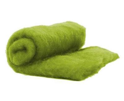 Perendale Wool  -- Carded Batt --  Olive