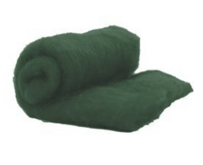 Perendale Wool  -- Carded Batt --  Forest