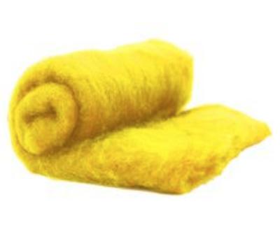 Perendale Wool  -- Carded Batt --  Golden Yellow