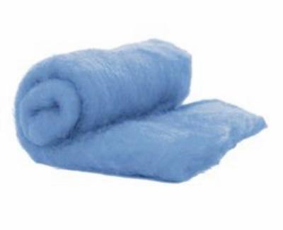 Perendale Wool  -- Carded Batt --  Light Blue