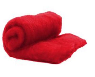Perendale Wool  -- Carded Batt --  Red