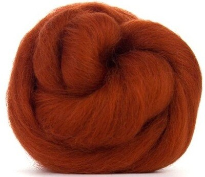 NZ Corriedale Wool Roving --  Rust