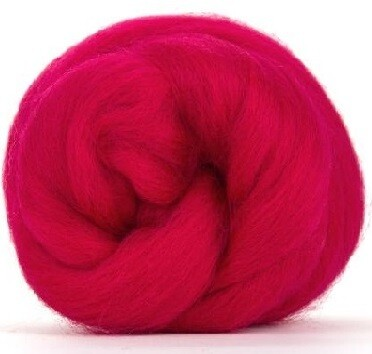 NZ Corriedale Wool Roving --  Hothouse Rose
