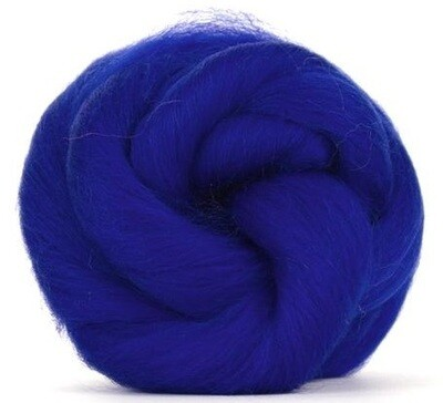 NZ Corriedale Wool Roving -- cobalt