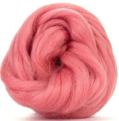 NZ Corriedale Wool Roving -- Salmon