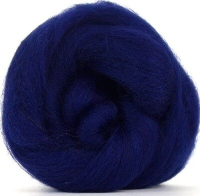 NZ Corriedale Wool Roving --  Navy