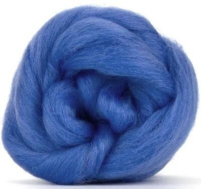 NZ Corriedale Wool Roving -- Cornflower
