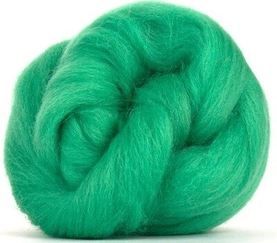 NZ Corriedale Wool Roving -- NEW! Verdant