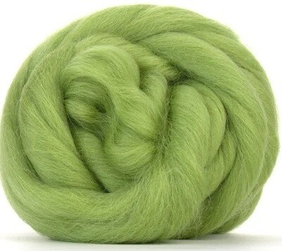 NZ Corriedale Wool Roving -- Sage