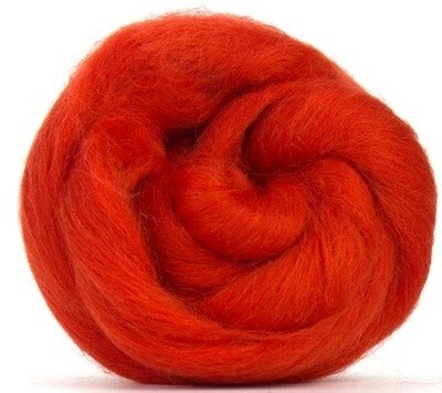 NZ Corriedale Wool Roving --  Pumpkin