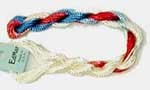 Rayon Floss -- 329 -- Red/White/Blue